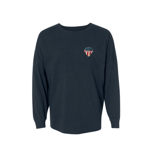 American Style Collegiate Long Sleeve (Unisex) - Navy