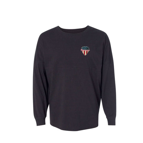 American Style Collegiate Long Sleeve (Unisex) - Black