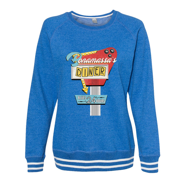 Bonamassa's Diner Crew Sweatshirt (Women) - Royal