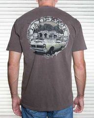 classic car shirt for men in chocolate