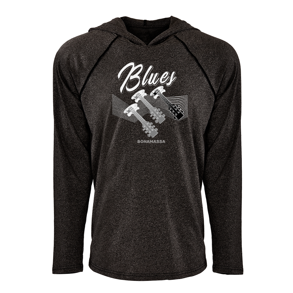 Blues Illusion Raglan Hoodie (Unisex) - Black