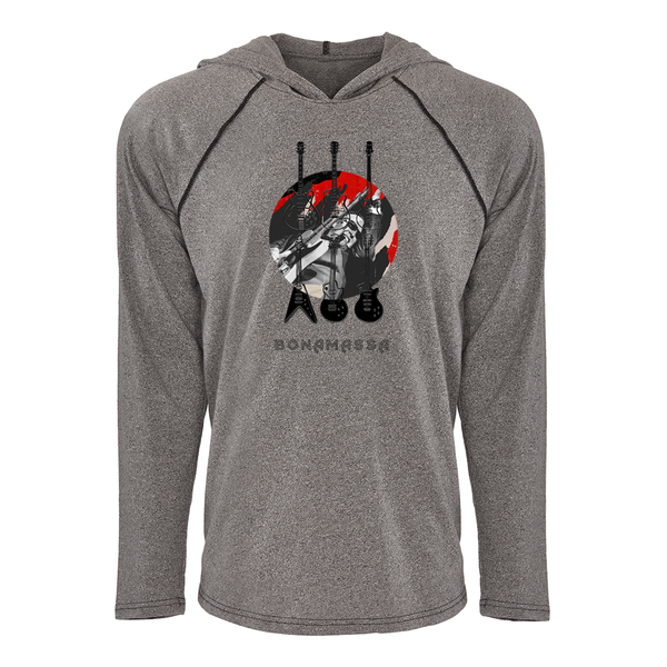 Six of Blues Raglan Hoodie (Unisex) - Heather Grey