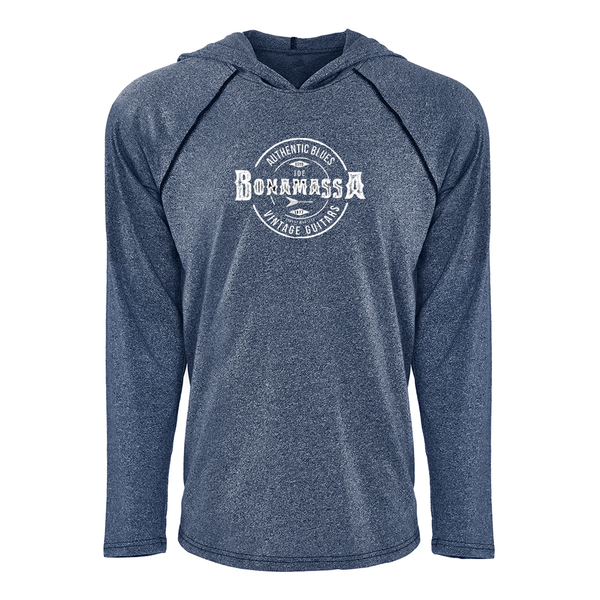 Authentic Blues Raglan Hoodie (Unisex) - Indigo
