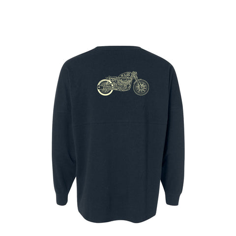 Bona-Bobber Collegiate Long Sleeve (Unisex) - Navy