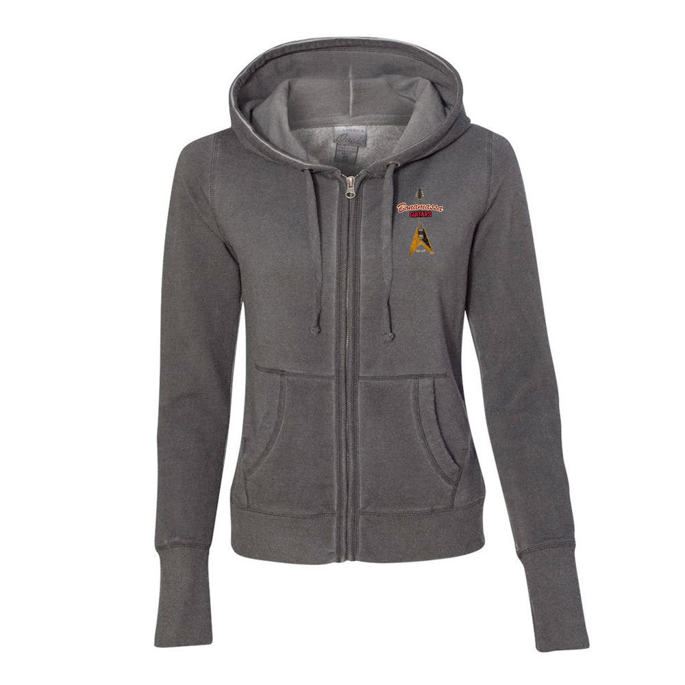 Red Lady Hoodie (Women) - Dark Smoke