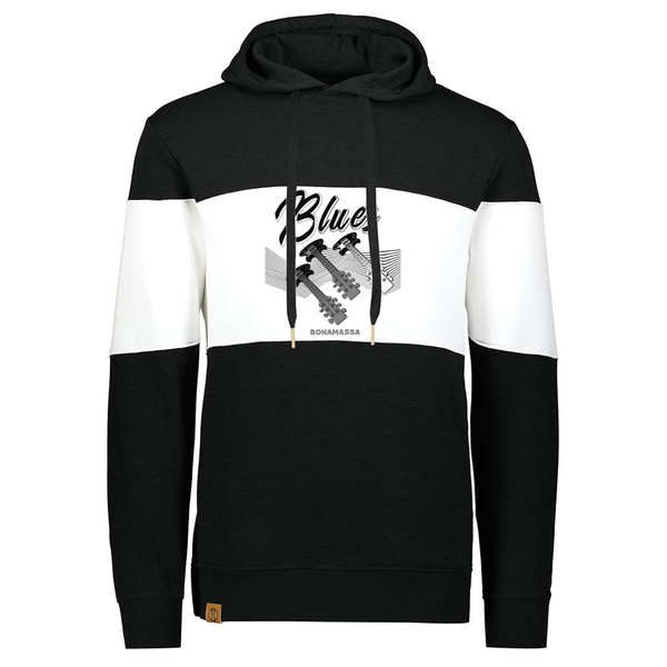 Blues Illusion 1/4 Zip-Up Pullover (Unisex) - Black/White