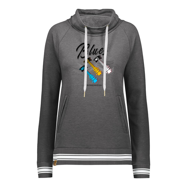 Blues Illusion Pullover (Women) - Carbon Heather