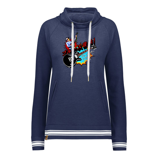 Blues Music Pullover (Women) - Navy Heather
