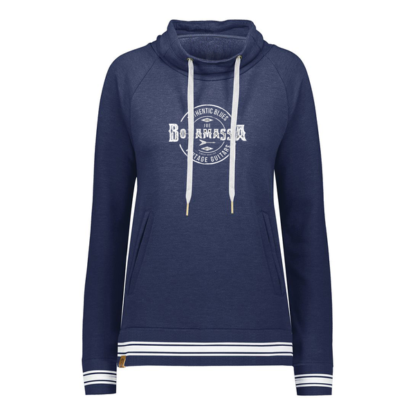 Authentic Blues Pullover (Women) - Navy Heather