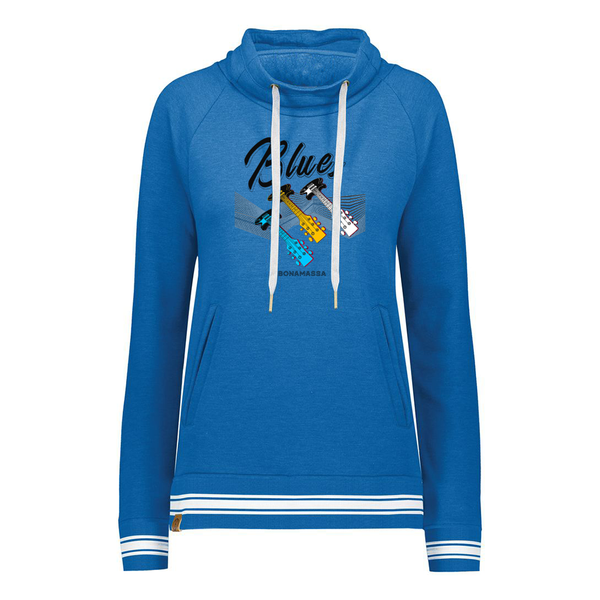Blues Illusion Pullover (Women) - Royal Heather