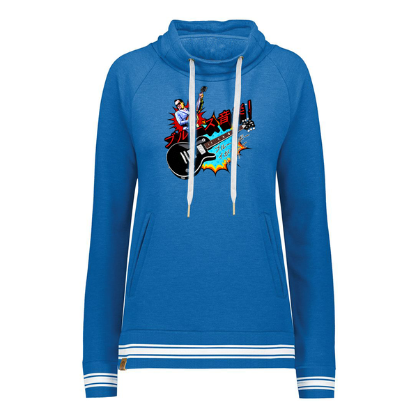 Blues Music Pullover (Women) - Royal Heather