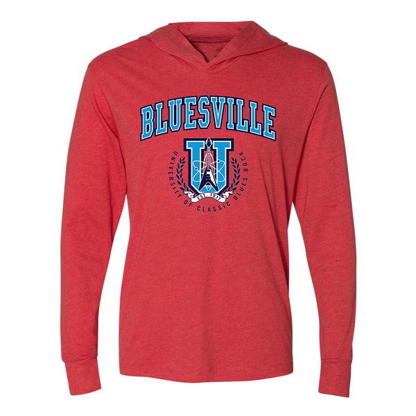Bluesville University of Classic Blues Rock Long Sleeve & Hoodie (Unisex) - Vintage Red