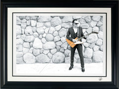 "#24 ""Blues on the Rocks"" JOE BONAMASSA Collectible Litho (FRAMED - USA ONLY)"