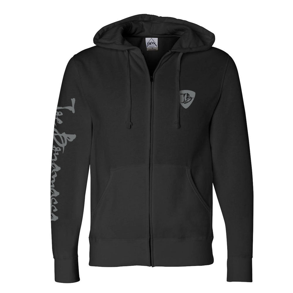 25th Anniversary Logo Zip-Up Hoodie (Unisex) - Black