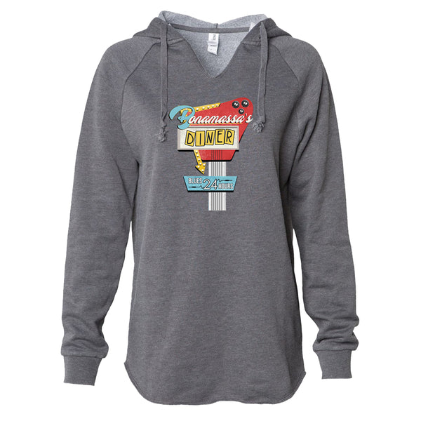 Bonamassa's Diner Lightweight Pullover (Women) - Shadow
