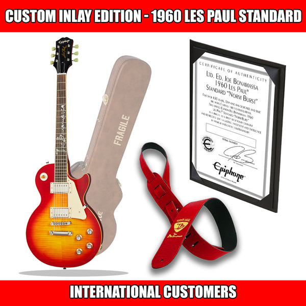 "2019 Ltd Ed Joe Bonamassa 1960 Les Paul Standard ""Norm Burst"" Custom Inlay Outfit Custom Epiphone w/Case (INT'L)"