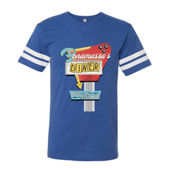 Bonamassa's Diner Football T-Shirt (Men) - Vintage Royal