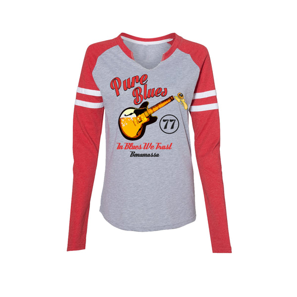 Brews & Blues Long Sleeve T-Shirt (Women) - Vintage Red