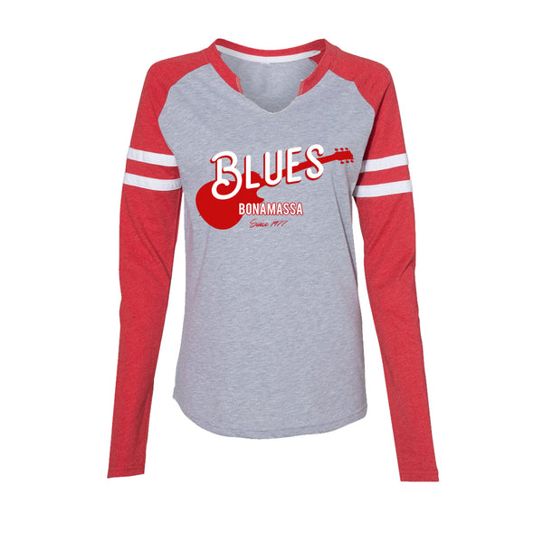Certified Blues Long Sleeve T-Shirt (Women) - Vintage Red