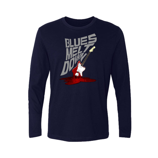 Blues Meltdown Long Sleeve (Men) - Midnight Navy