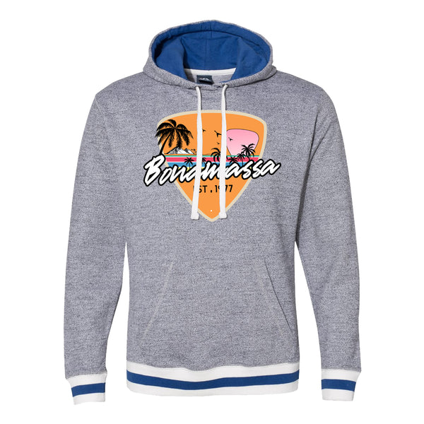 Blues Sunset Peppered Fleece Pullover (Unisex) - Royal