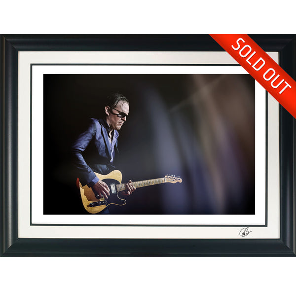 "#37 ""The Nocaster"" JOE BONAMASSA Collectible Litho (FRAMED - USA ONLY)"