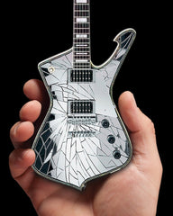 Axe Heaven KISS Paul Stanley Cracked Mirror Iceman Miniature Guitar Model