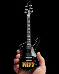 Axe Heaven KISS Logo Paul Stanley Iceman Miniature Guitar Model