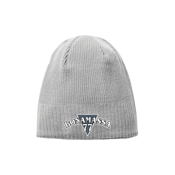 Blues Rock Guitar Logo New Era Knit Beanie - Grey