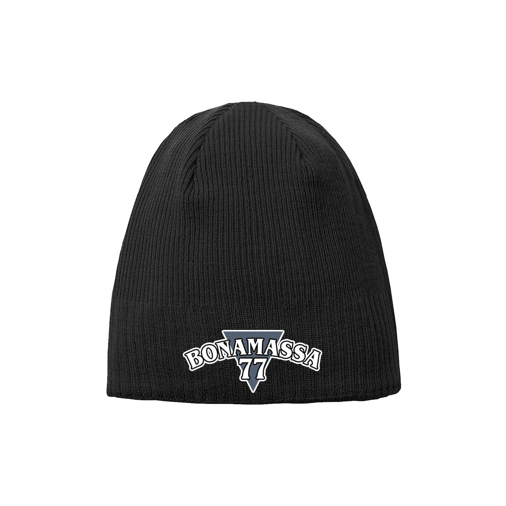 Blues Rock Guitar Logo New Era Knit Beanie - Black