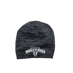 Blues Rock Guitar Logo Space Dyed Beanie - Navy/Charcoal