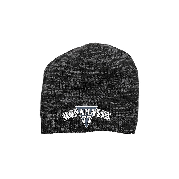Blues Rock Guitar Logo Space Dyed Beanie - Black/Charcoal