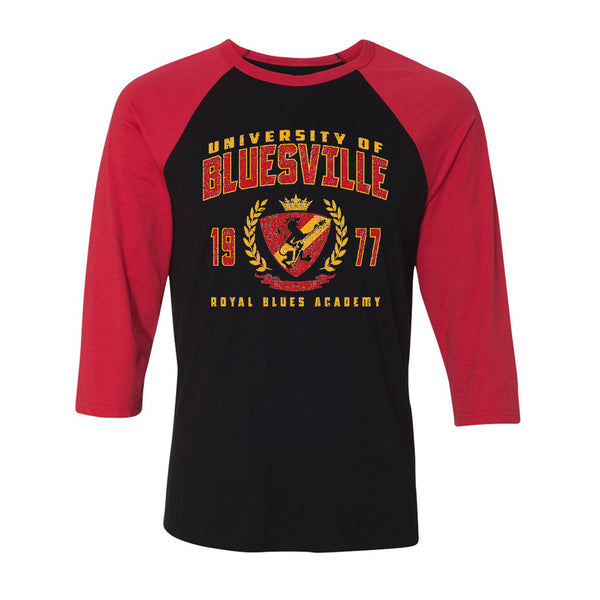 Bluesville Royal Blues Academy 3/4 Sleeve T-Shirt (Unisex) - Black/Red