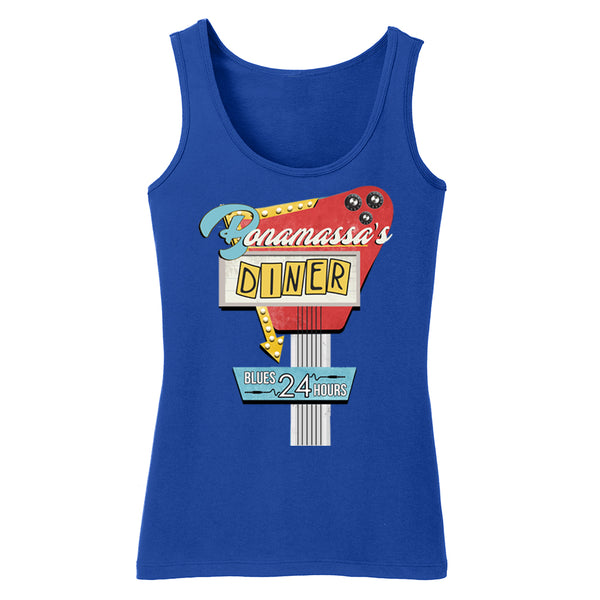 Bonamassa's Diner Tank (Women) - Deep Royal