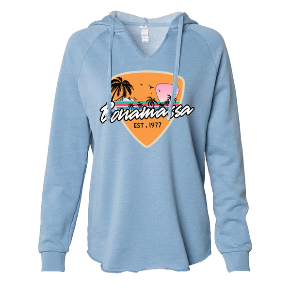 Blues Sunset Lightweight Pullover (Women) - Misty Blue