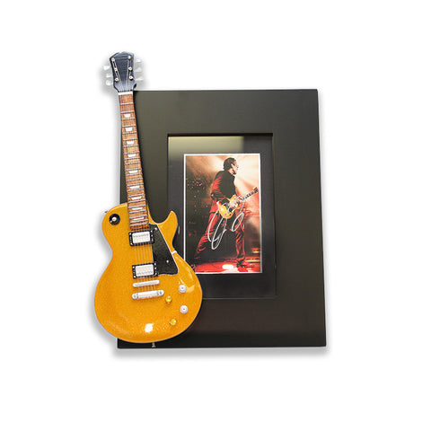 "Collectible ""Guitar Fever"" Hand-Signed 4x6 Goldtop Picture Frame"