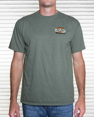 sage green classic car shirt for men
