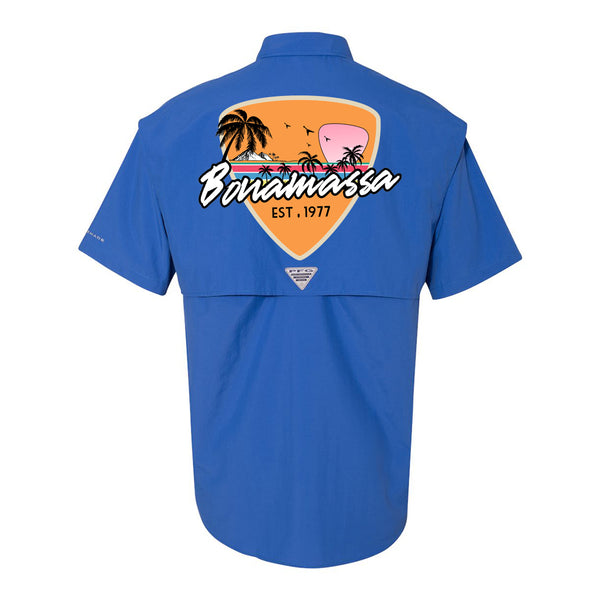 Columbia Bahama II Vivid Blue Short Sleeve - Blues Sunset (Men)