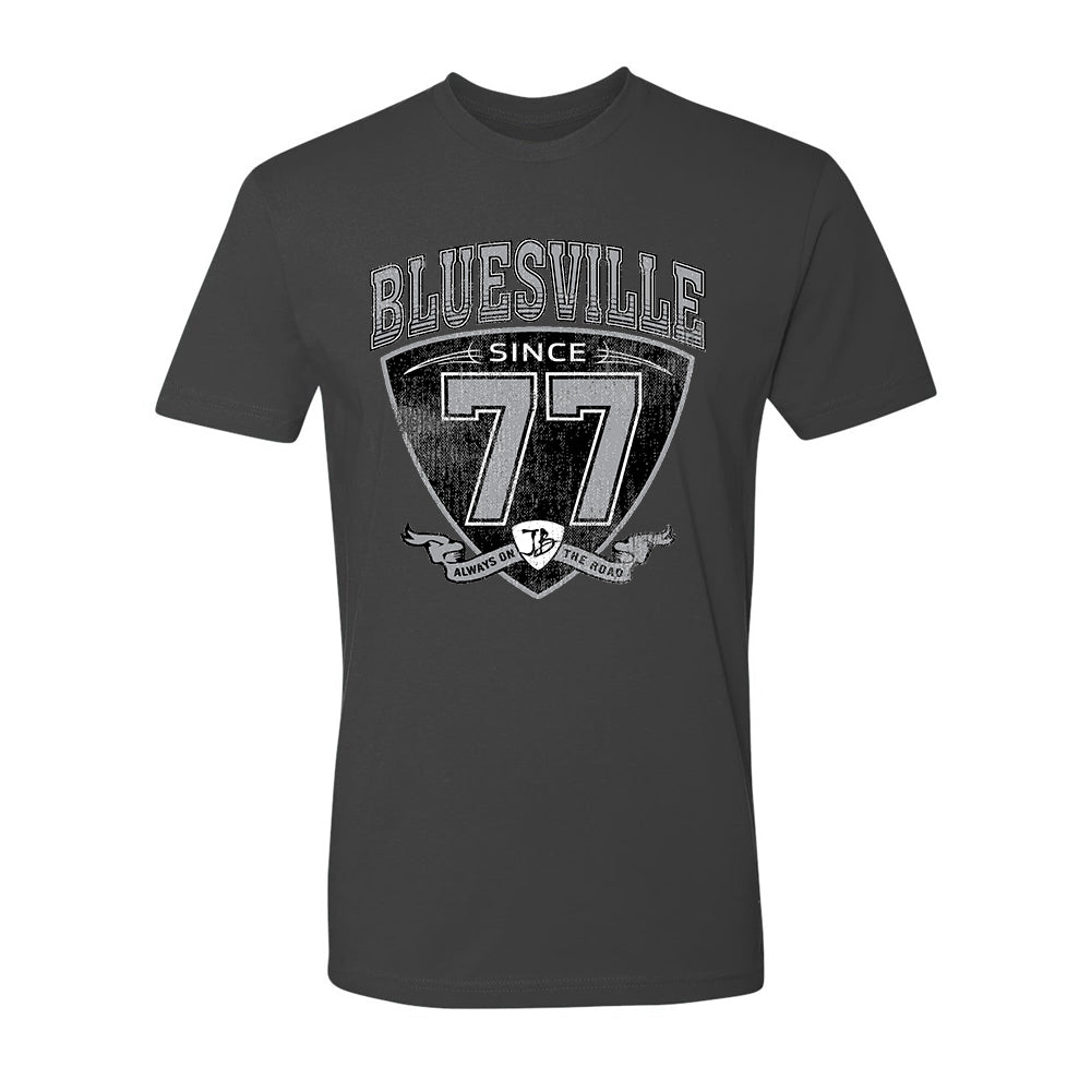 "Bluesville ""77"" Shield T-Shirt (Unisex) - Slate"