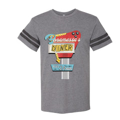 Bonamassa's Diner Football T-Shirt (Men) - Vintage Granite