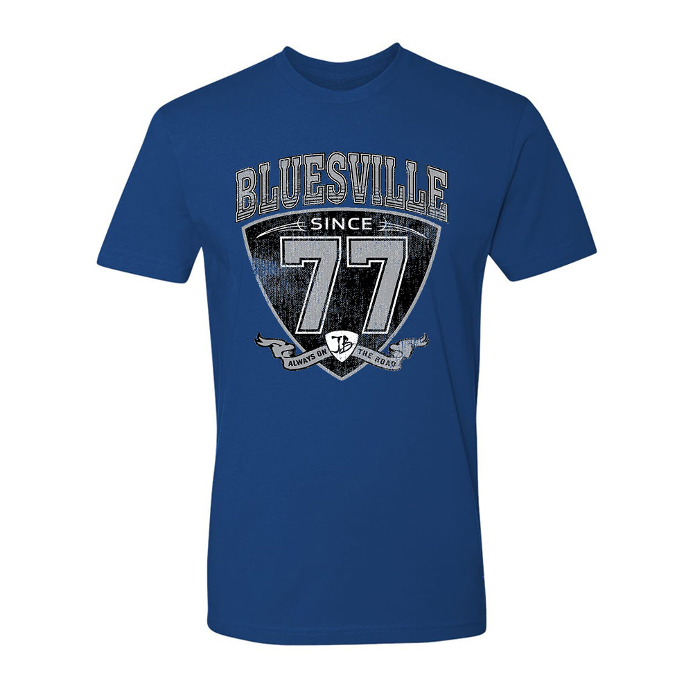 "Bluesville ""77"" Shield T-Shirt (Unisex) - Cool Blue"