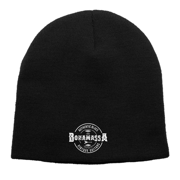 Authentic Blues Knit Beanie - Black