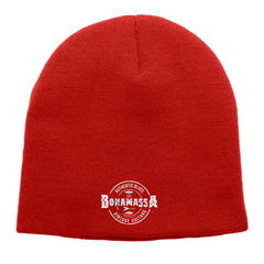 Authentic Blues Knit Beanie - Red