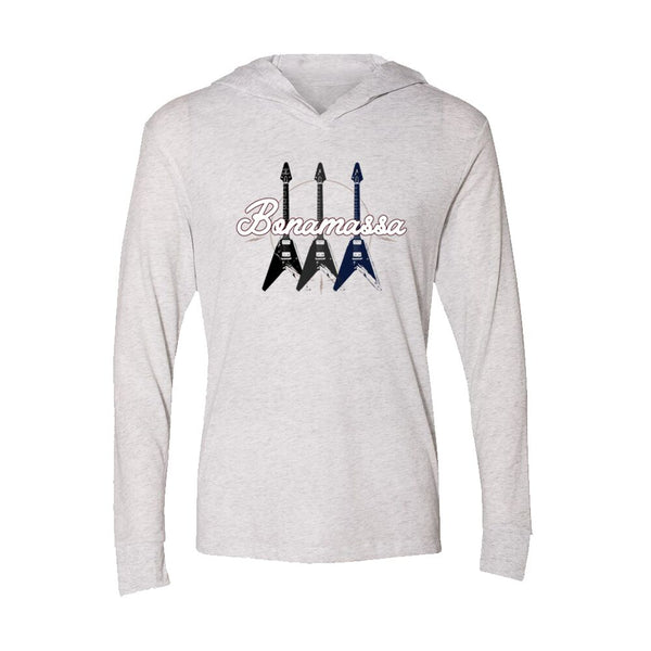 Triple Flying V Long Sleeve & Hoodie (Unisex) - Heather White