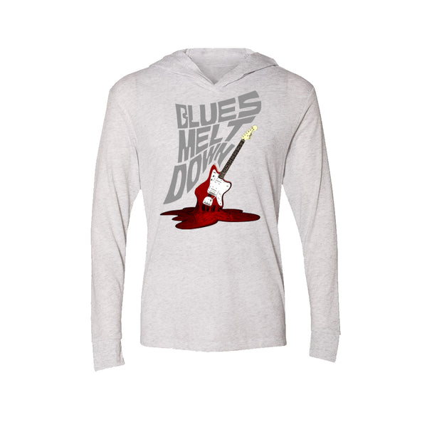 Blues Meltdown Long Sleeve & Hoodie (Unisex) - Heather White