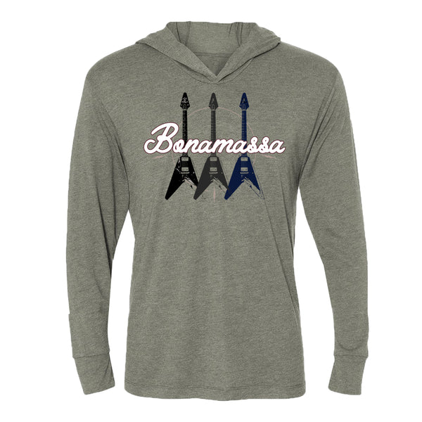 Triple Flying V Long Sleeve & Hoodie (Unisex) - Premium Heather Grey