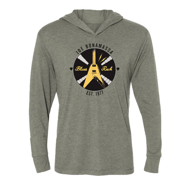 Electric Flying V Long Sleeve & Hoodie (Unisex) - Premium Heather Grey