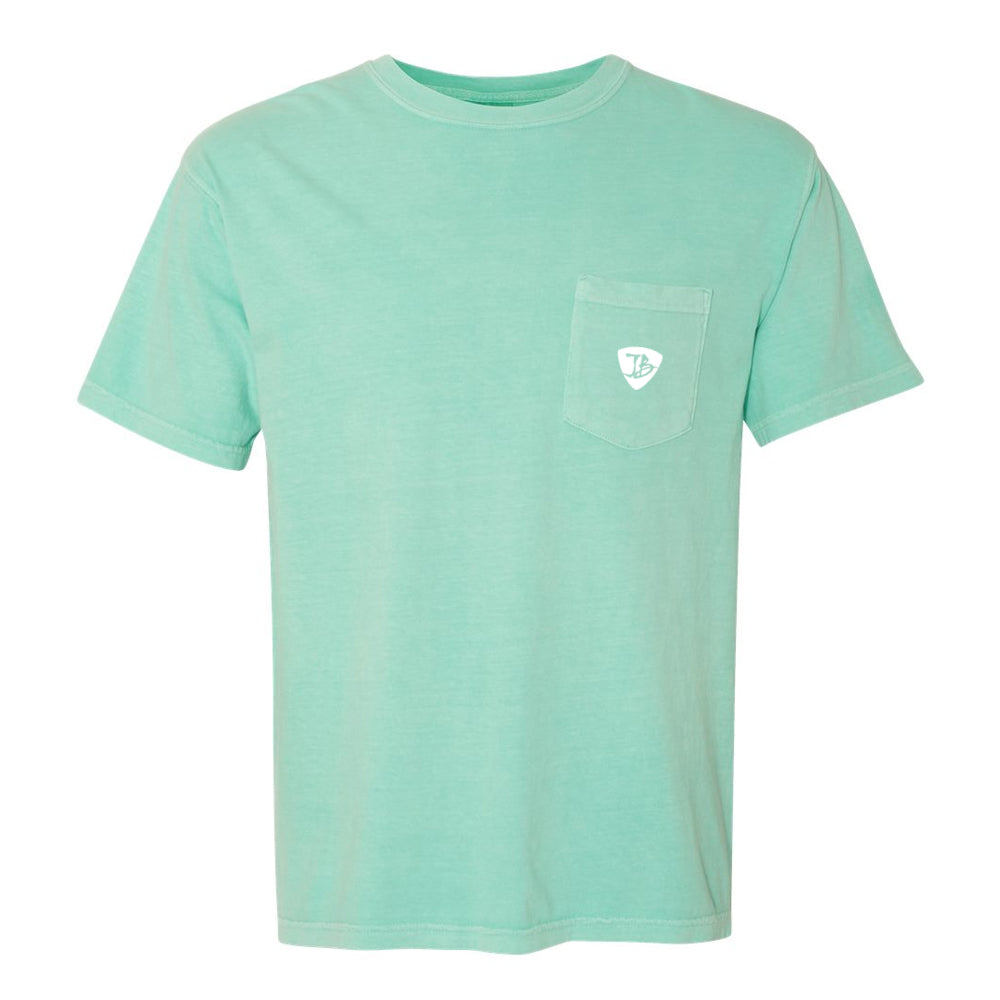 Bonamassa's Flying V Fish Comfort Colors Pocket T-Shirt (Unisex) - Mint