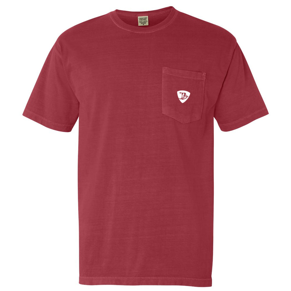 Blues Travel Comfort Colors Pocket T-Shirt (Unisex) - Crimson