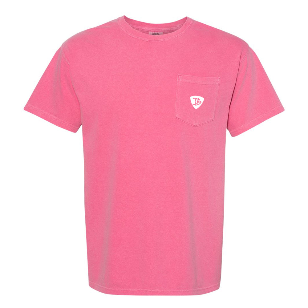 Bonamassa's Flying V Fish Comfort Colors Pocket T-Shirt (Unisex) - Crunchberry